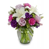 Colour Your Day Purple Bouquet