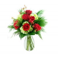 Christmas Carol Roses Bouquet