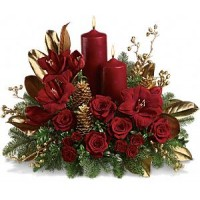 Candlelit Christmas Arrangement