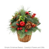 Simple Christmas Basket