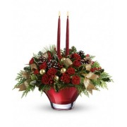 Holiday Flair Centerpiece Bouquet