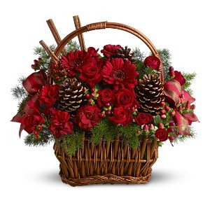 Holiday Spice Basket Arrangement