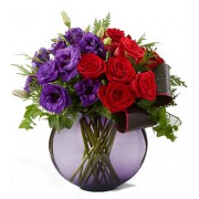 True Traditions Holiday Red Rose and Lisianthus Bouquet