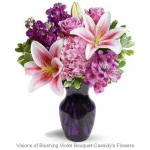 Visions of Blushing Violet Bouquet