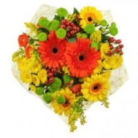 Fall Cut Flower Bouquet - Wrapped