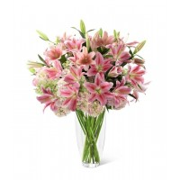 Intrigue Luxury Lily and Hydrangea Bouquet