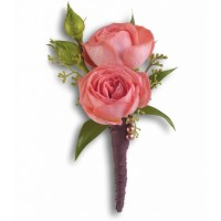 Pink Rose Simplicity Boutonniere