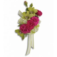Chic Green Dendrobium Orchid Corsage