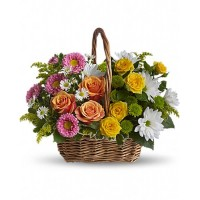 Sweet Tranquility Basket Bouquet