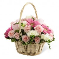 Graceful Peace Basket Bouquet