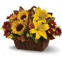 Golden Days Basket Bouquet