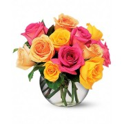 Multi-coloured Roses Bouquet