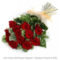One Dozen Roses - Wrapped