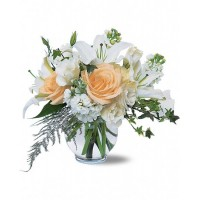 White Roses and Lilies Bouquet