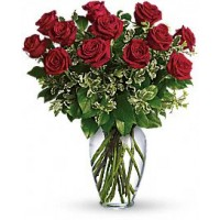Always on My Mind - One Dozen Red Roses Bouquet