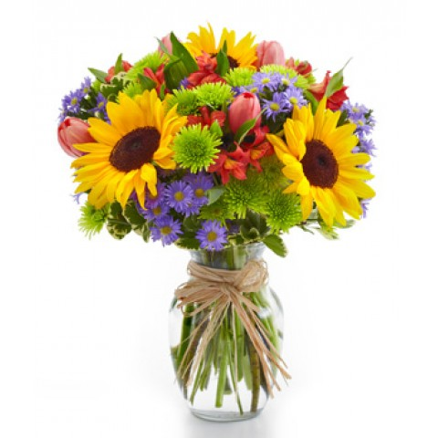 Summer Floral Garden Bouquet